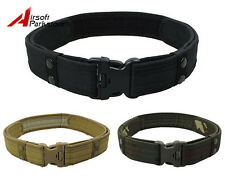 "2"" Tactical Airsoft Outdoor Security Police SWAT Nylon Duty Utility Belt 3 Color"