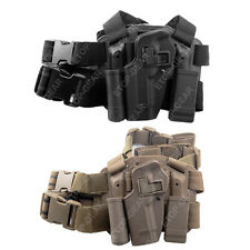 Tactical Left Leg Thigh Holster w/ Magazine Torch Pouch Beretta 92 96 M9
