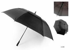 MENS & WOMENS PLAIN BLACK DRIZZLES GOLF STYLE STRONG AUTO OPENING UMBRELLA UU66