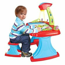(DT-1) deAO Childrens Projector Colouring and Learning Activity desk with stool
