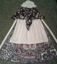 J4X GIRLS FANCY DRESS COSTUME Victorian Tudor Edwardian SKIRT SHAWL APRON HAT