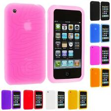 Color Swirl Silicone Rubber Gel Skin Case Cover Accessory for iPhone 3G S 3GS
