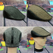 Cabbie Newsboy Gatsby Cap Mens Ivy Hat Golf Driving Winter Cold Flat Plain Hats
