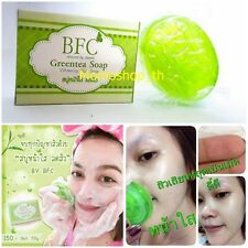 BFC Greentea Facial Soap Anti AcneAging Cleansing Skin Vitamin C and E Whitening