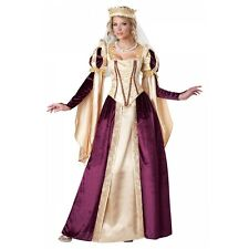 Renaissance Queen Costume Adult Medieval Princess Halloween Fancy Dress