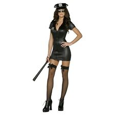 Sexy Cop Costume Adult Police Woman Halloween Fancy Dress Outfit