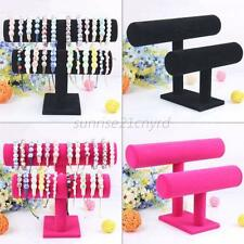18TYPE VELVET JEWELLERY STAND BANGLE BRACELET SHOW CASE DISPLAY WATCH HOLDER U24