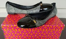 WOMENS TORY BURCH VERBENA TRIBAL SMOKE SNAKE BALLET FLATS SHOES LEATHER NEW $265