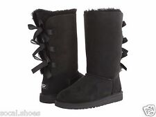 UGG AUSTRALIA BAILEY BOW TALL BLACK 1007309 BIG KIDS YOUTH BOOTS SHOES NEW