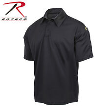 Rothco Black Police SWAT Law Enforcement Tactical Performance Polo Shirt