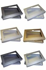 Pearlescent A6 APERTURE Greeting Card Boxes, Wedding. Choose Colour & Quantity