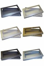 Pearlescent DL Greeting Card Boxes, Gift, Wedding. Choose Colour & Quantity
