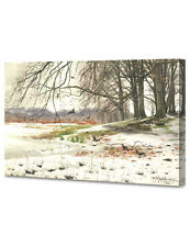 DecorArts Snowy Landscape by Monsted Giclee Print Stretched CanvasGalleryWrapped