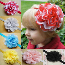 Pretty Baby Toddler Infant Lace Flower Headband Hair Bow Headwear Accessories