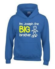 Personalised I'm The Big Brother Boys Hoodie 3-14 Yrs Funny Custom Gift Present