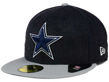 Official Dallas Cowboys New Era 59FIFTY Hat NFL Heather Action 2 Tone
