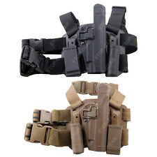 Tactical Drop Leg Thigh Right-hand Holster With Magazine Pouches Colt 1911 M1911