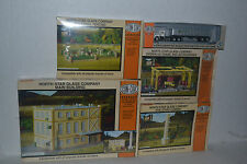 Con-Cor North Star Glass Factory 4 kits & Truck Ho Scale