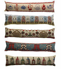 Tapestry Style Home Draught Excluder Fabric Door or Window Draft Guard Cushion