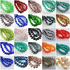 New Multicolor Faceted Glass Crystal Rondelle Loose Beads 6/8/10/12/14/16/18mm