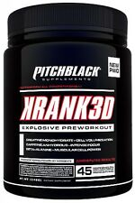 Pitchblack (Genone) KRANK3D 45 Servings Original Pre Gym Formula OLD JACK