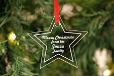 Personalised Christmas Decorations Star Shapes