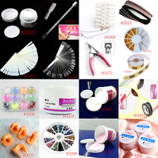 UV Acrylic Nail Art Kit Buffer Powder File Pen Decorations Tips Tool Set