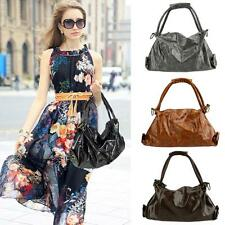 Women Hobo PU Leather Large Capacity Crossbody Shoulder Bag Lady Handbag 8KW6