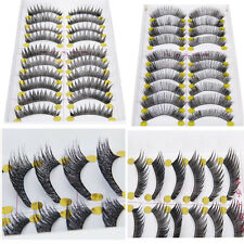 10Pairs Handmade Natural Long Thick Cross False Fake Eyelashes Makeup Eye Lashes