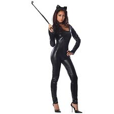 Catwoman Costume Adult Sexy Black Cat Halloween Fancy Dress
