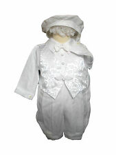 Baby Boy Toddler Baptism Church Christening Romper Gown Suit Outfits white 0-30M