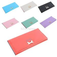 Lady Womens Leather Clutch Wallet Long ID Card Holder Case Cover Purse Handbag