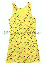 Pyjamas Ladies Summer Sleeveless Nightie Pjs Yellow Spongebob Small/Med Sz 8 10