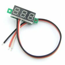 2 PCS Mini DC 3 - 30V LED Panel Voltmeter 3-Digital Display Voltage Meter RGB