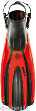 Mares Plana Avanti SuperChannel Open Heel Scuba Diving Dive Fins - Red