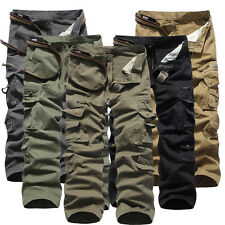 MEN'S MILITARY ARMY CARGO COMBAT WORK PANTS CASUAL TROUSERS 5 COLORS 9 SIZE