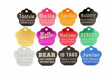MADE IN USA Laser Etched Aluminum Paw Print Pet ID Tag Custom Engraved Dog Cat