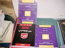1996 DODGE VIPER RT/10 ROADSTER PRINT SERVICE MANUALS CHASSIS nr mint condition