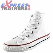 Converse Junior Kids Chuck Taylor All Star Hi Classic Trainers White AUTHENTIC