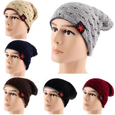 WD NEW Unisex Women Men Knit Winter Warm Hats Ski Crochet Slouch Hat Cap Beanie