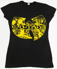WU TANG CLAN T-shirt Rap Hip Hop Gza Rza ODB Womens JUNIORS S-XL Black Tee New