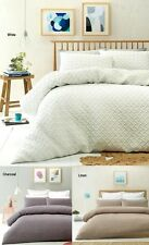 Phase 2 Amish Basket Weave Quilted Quilt Doona Cover Set - DOUBLE QUEEN KING