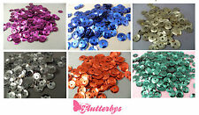 10g of Sequins, 6mm, Blue/Gold/Silver/Red/Green/Blue/Purple Crafts Embellishment