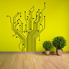 CIRCUIT TREE contempory wall art sticker decal