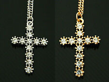 Diamond Shine Silver or Gold Tone Crosses Necklaces Chains Great Price N71