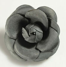 Dark Grey - Graphite, Pink and Red Hair Clip Corsage Flower & Brooch Pin HA83