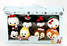 NEW Disney Store Holiday Series Tsum Tsum Set of 8 Plush Toys - Mickey & Friends
