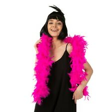 BRIGHT PINK FEATHER BOA SHOWGIRL BURLESQUE HEN NIGHT DANCE SOFT FANCY OTFIT200cm