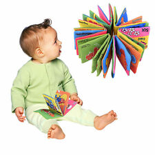 Infant Baby Kid Toy Intelligence Development Cognize Education Soft Cloth Book