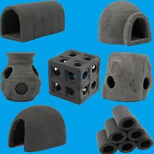 Aquarium Shelter Crab Shrimp Hiding Fry Breed Cave Cichlid fish House 8 Shapes